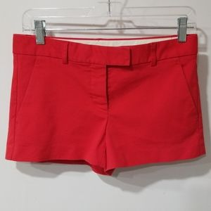 Theory red chino shorts size 4